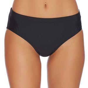 Athena Landa Mid Waist Swim Bottoms Black